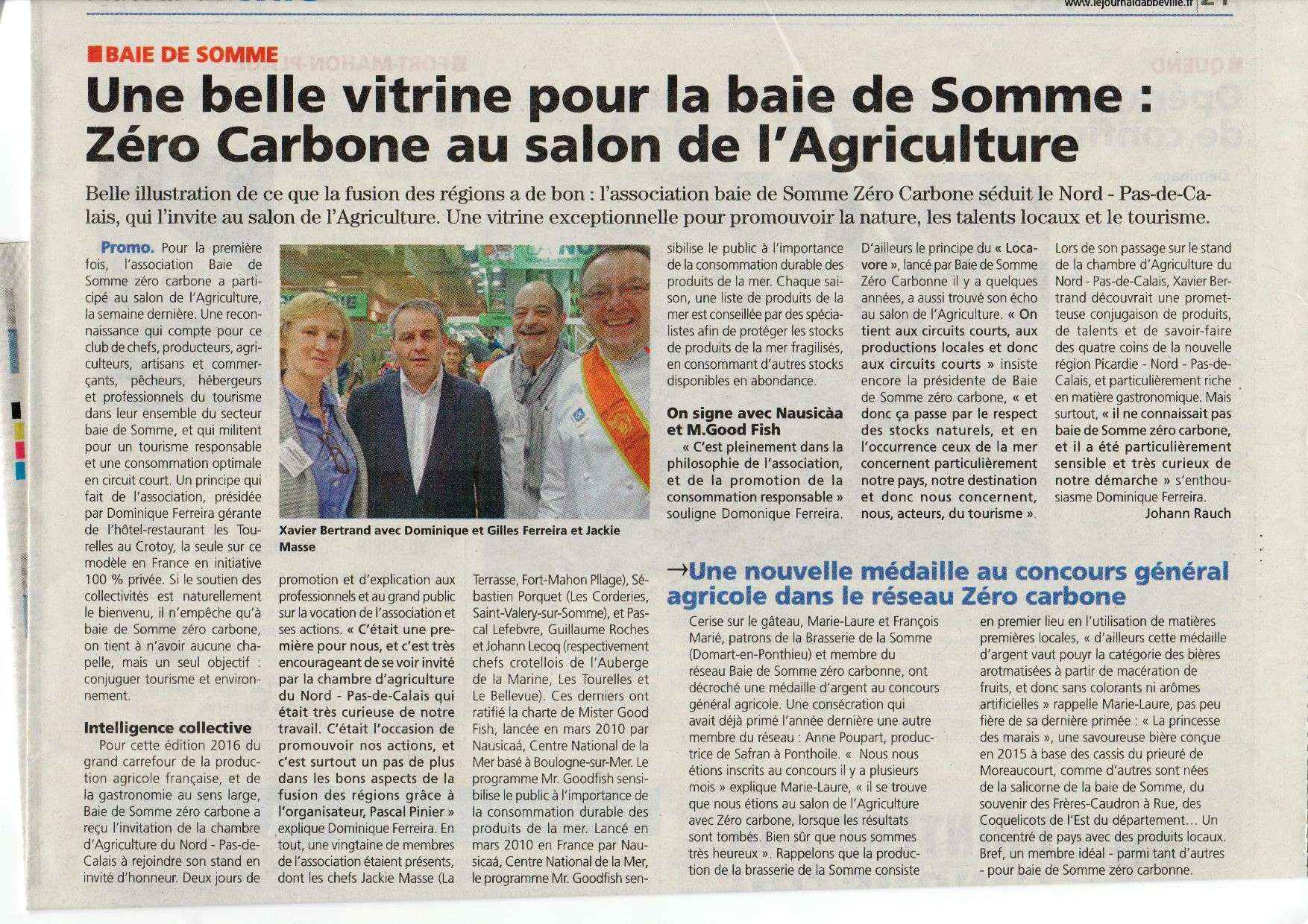 Revue de presse baie de somme z ro carbone for Parking salon de l agriculture
