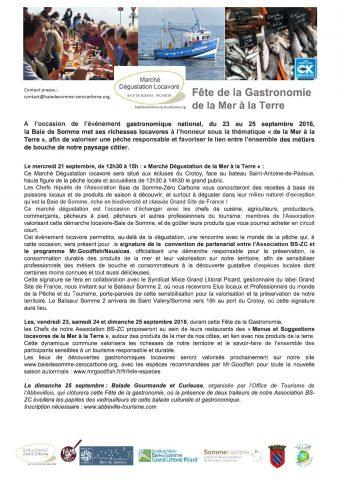 Fete de la Gastronomie Septembre 2016 - Association Baie de Somme Zéro Carbone