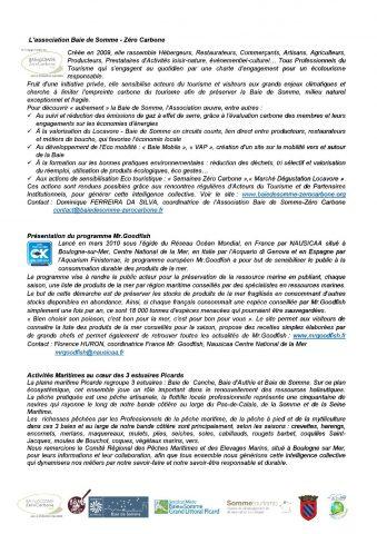 Fete de la Gastronomie Septembre 2016 - Association Baie de Somme Zéro Carbone2