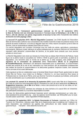 Fete de la Gastronomie Septembre 2016 - Association Baie de Som